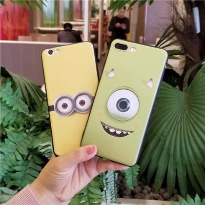小黄人苹果5s/6手机壳全包iphone7/x/8plus软胶防摔大眼怪搞怪套