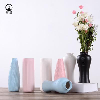陶瓷花瓶现代简约餐桌插花干花复古瓷器客厅电视柜装饰品摆件