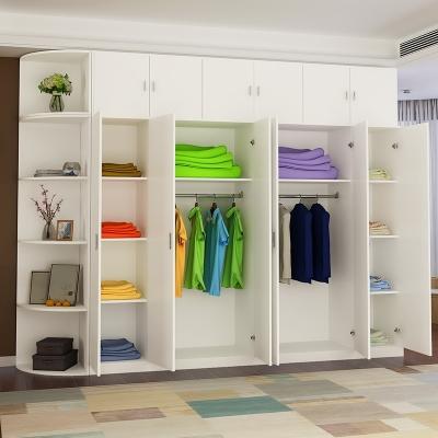 衣柜?#30340;?#31616;约现代经济型推拉门4门衣柜组装卧室儿童衣橱简易衣柜