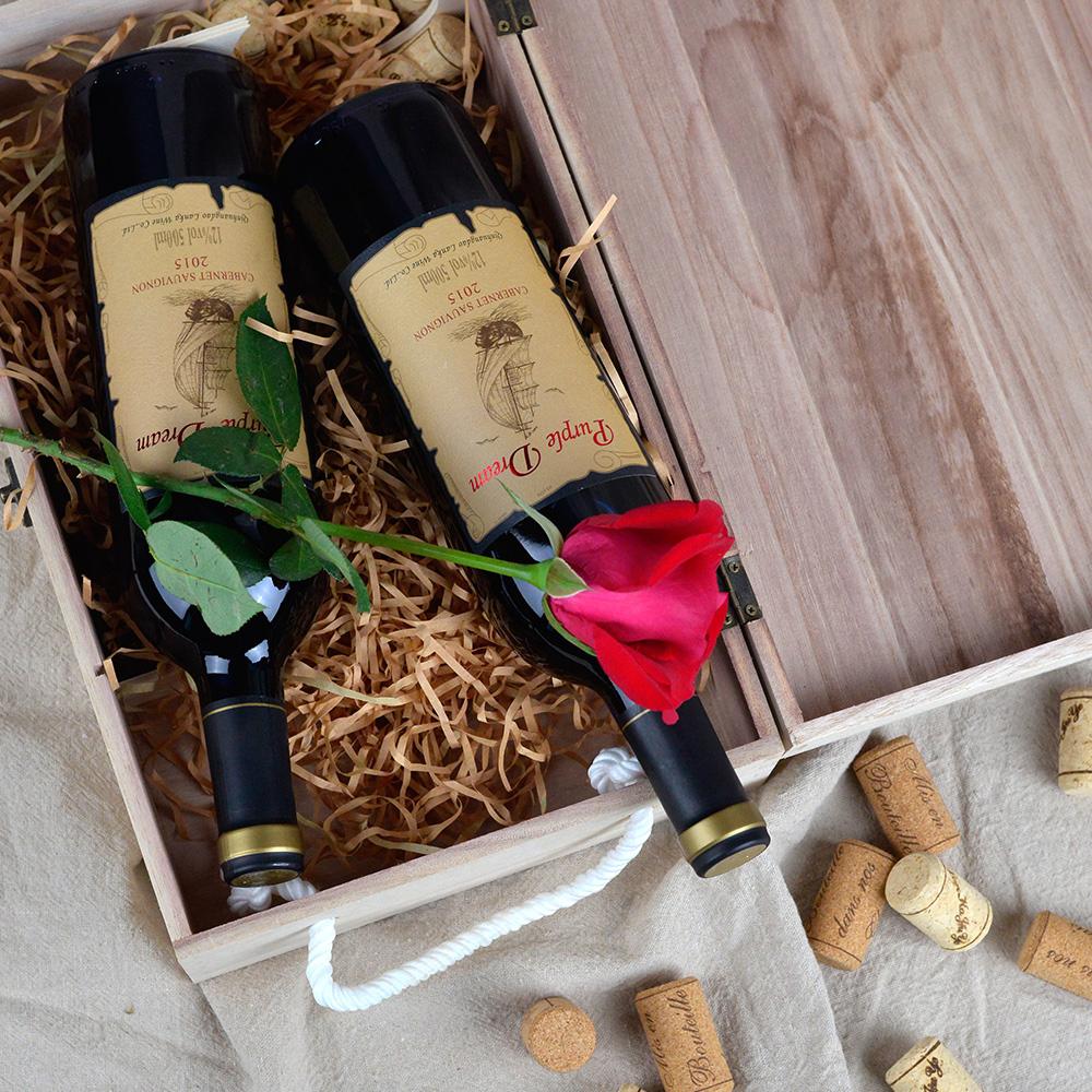 法国原酒进口红酒4支装500ML葡萄酒红酒整箱批发干红葡萄酒甜酒水