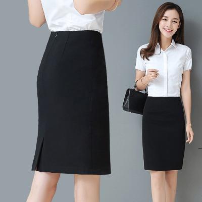 包臀裙春夏短裙职业半身裙黑色弹力一步裙包裙女工作裙OL正装裙子