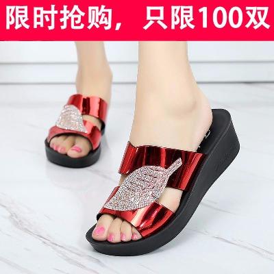 妈妈拖鞋女夏外穿新款中年女拖鞋防滑软底中老年凉鞋平底凉拖鞋女
