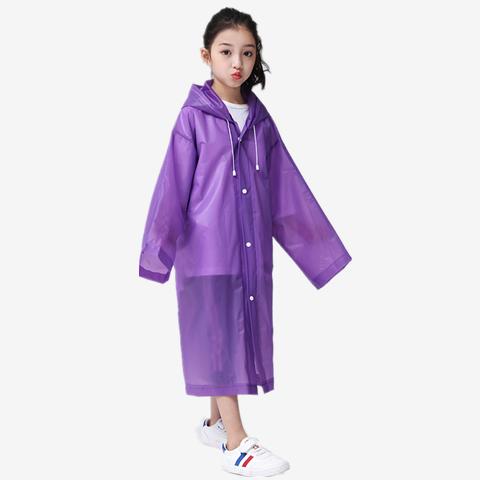 【雨天必备】加厚EVA环保雨衣时尚成人儿童韩版长款雨披户外旅行