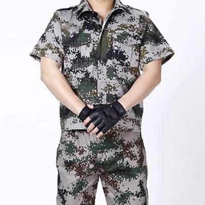 军迷数码迷彩服套装短袖夏装薄款轻便耐磨修理工登山工作服